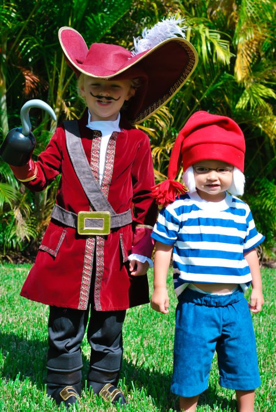 58) Captain Hook and Smee  sc 1 st  Mommy Shorts & 65 Adorable Sibling Costumes that Might Make Your Kids Get Along on ...